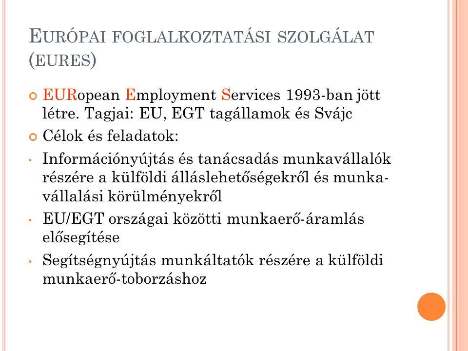Európai foglalkoztatási szolgálat (eures)