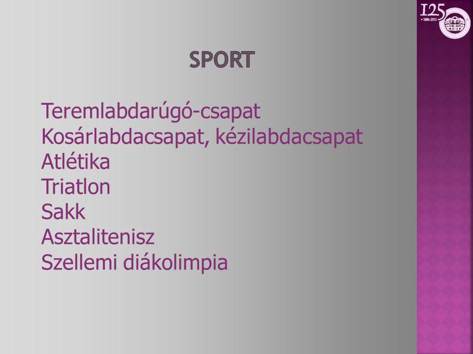 Sport Teremlabdarúgó-csapat Kosárlabdacsapat, kézilabdacsapat Atlétika