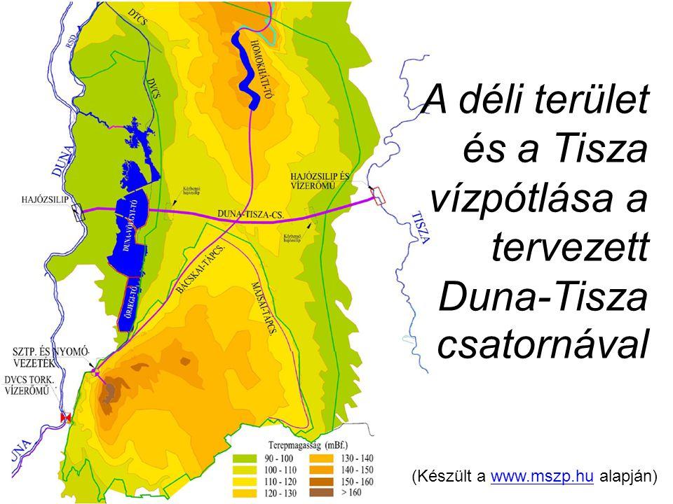 A déli terület és a Tisza vízpótlása a tervezett Duna-Tisza csatornával