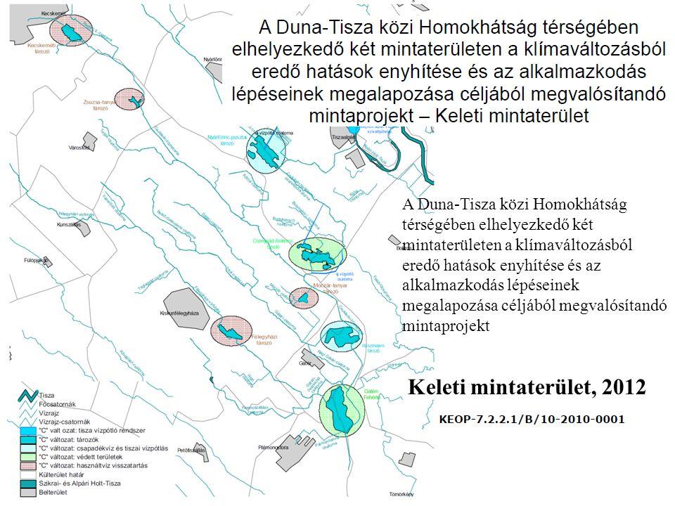 Keleti mintaterület, 2012 A Duna-Tisza közi Homokhátság