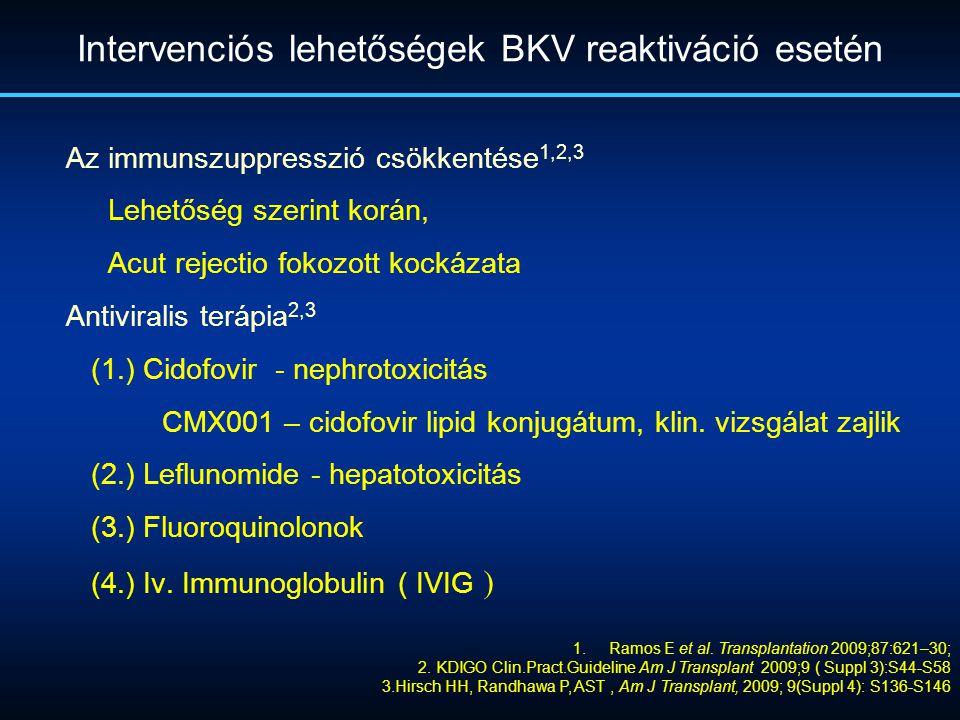 Intervenciós lehetőségek BKV reaktiváció esetén