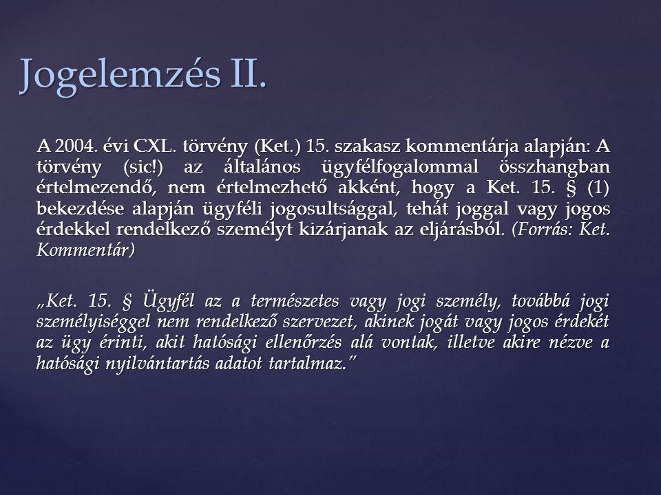 Jogelemzés II.