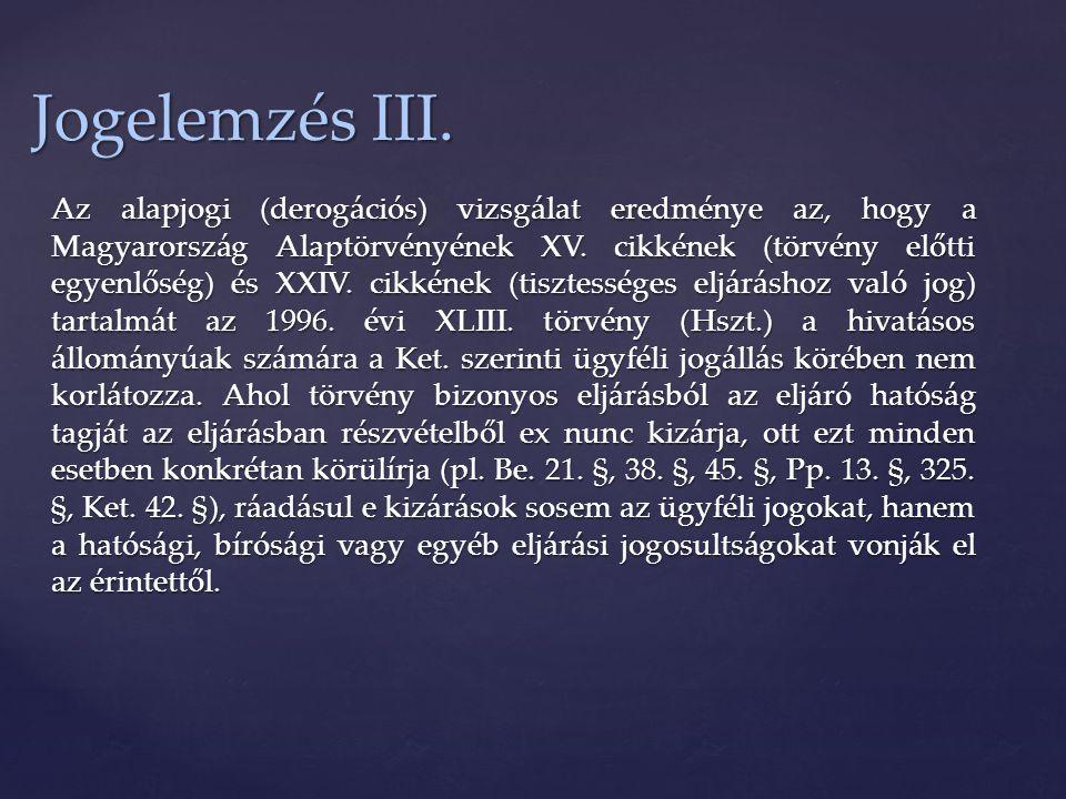 Jogelemzés III.