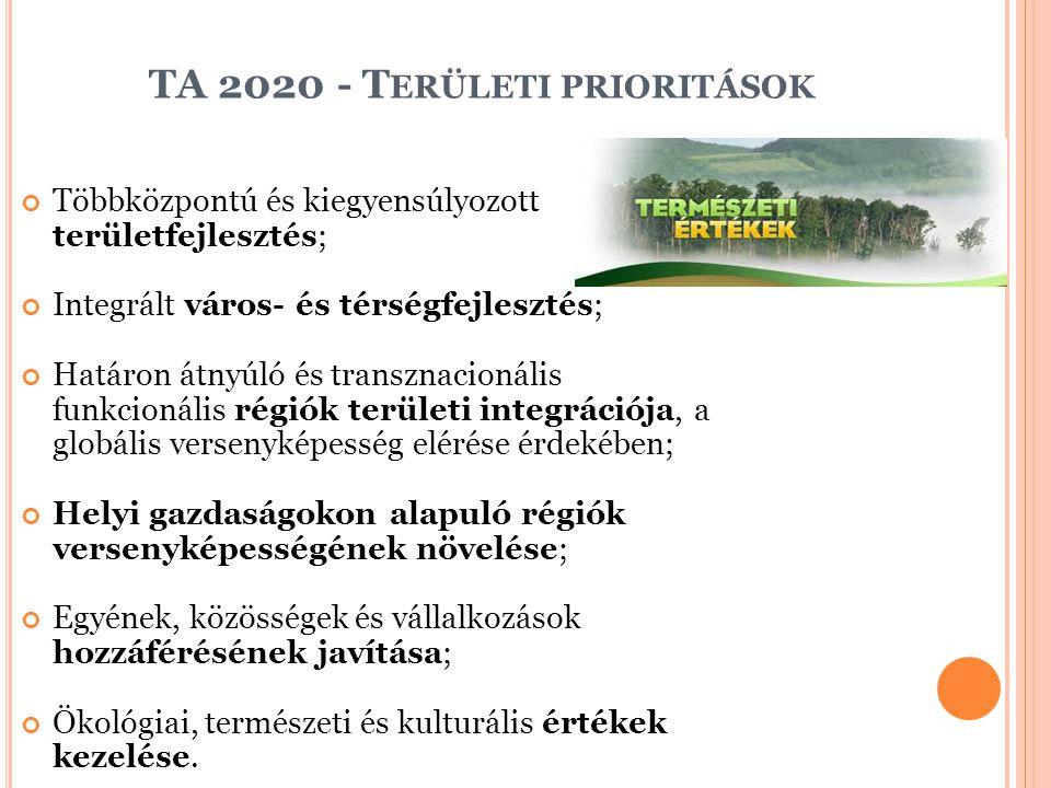 TA 2020 - Területi prioritások