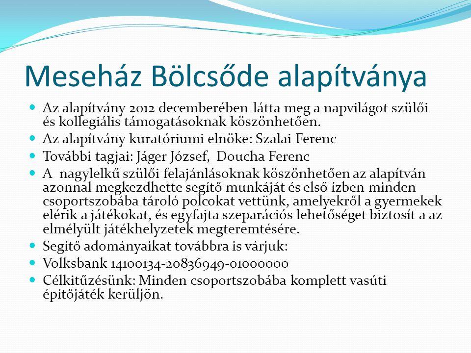 Meseház Bölcsőde alapítványa