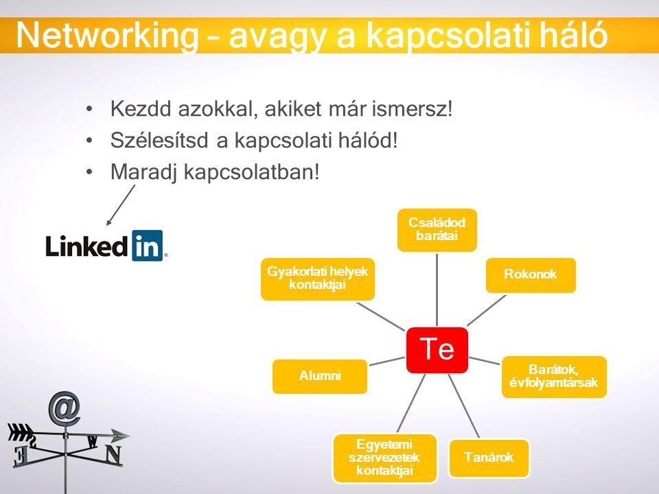 Networking – avagy a kapcsolati háló