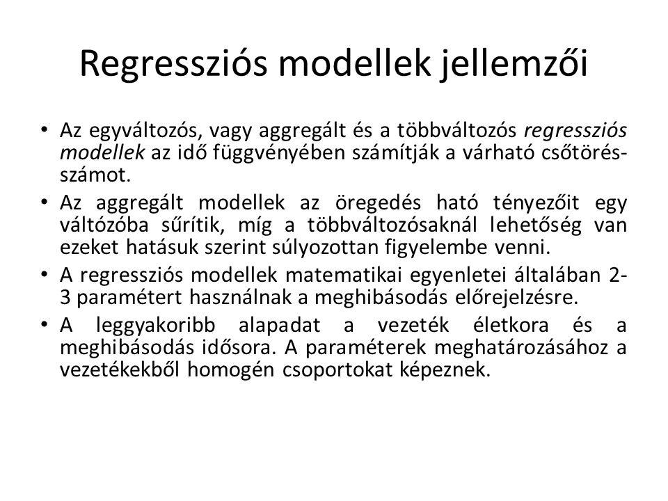 Regressziós modellek jellemzői