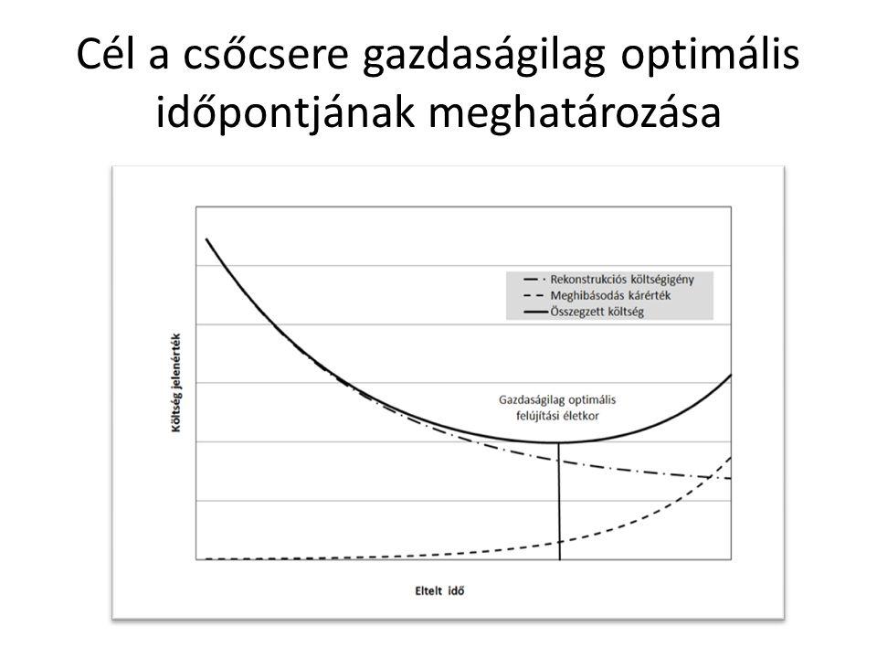 Cél a csőcsere gazdaságilag optimális időpontjának meghatározása