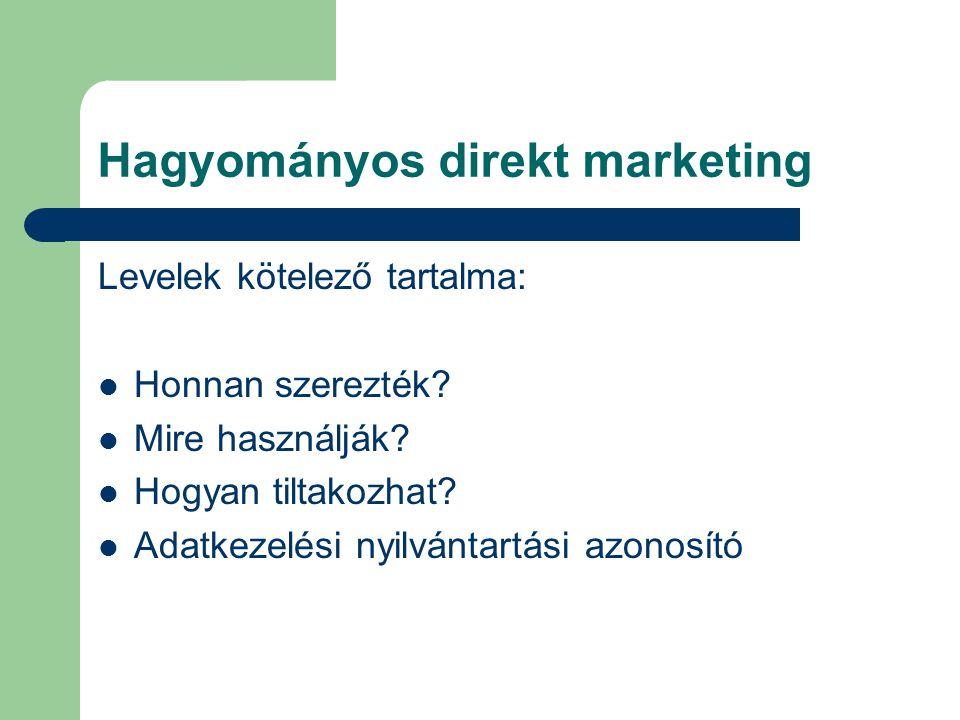 Hagyományos direkt marketing