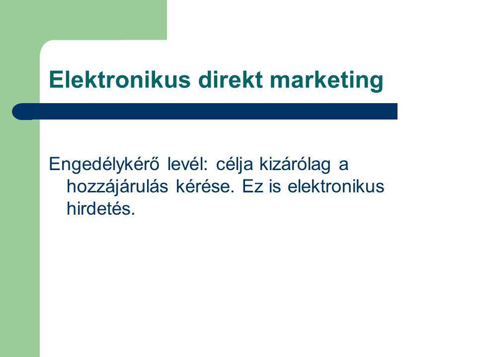 Elektronikus direkt marketing