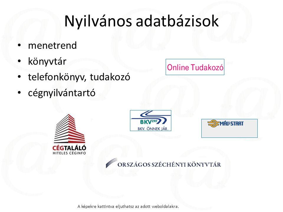 Nyilvános adatbázisok