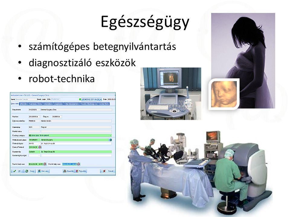 Egészségügy számítógépes betegnyilvántartás diagnosztizáló eszközök