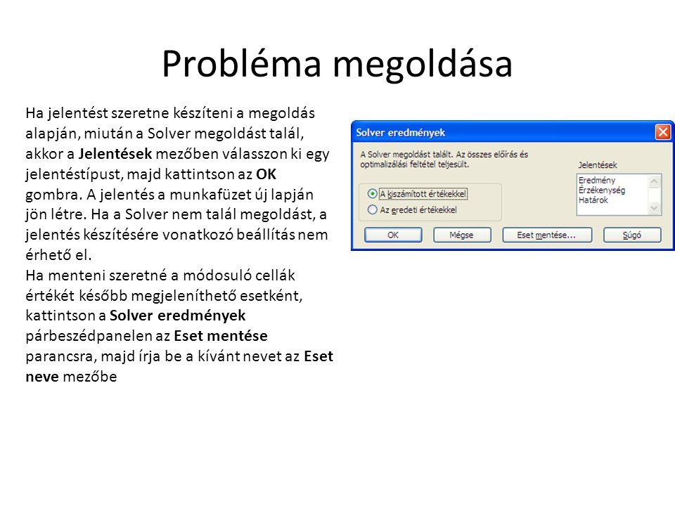 Probléma megoldása