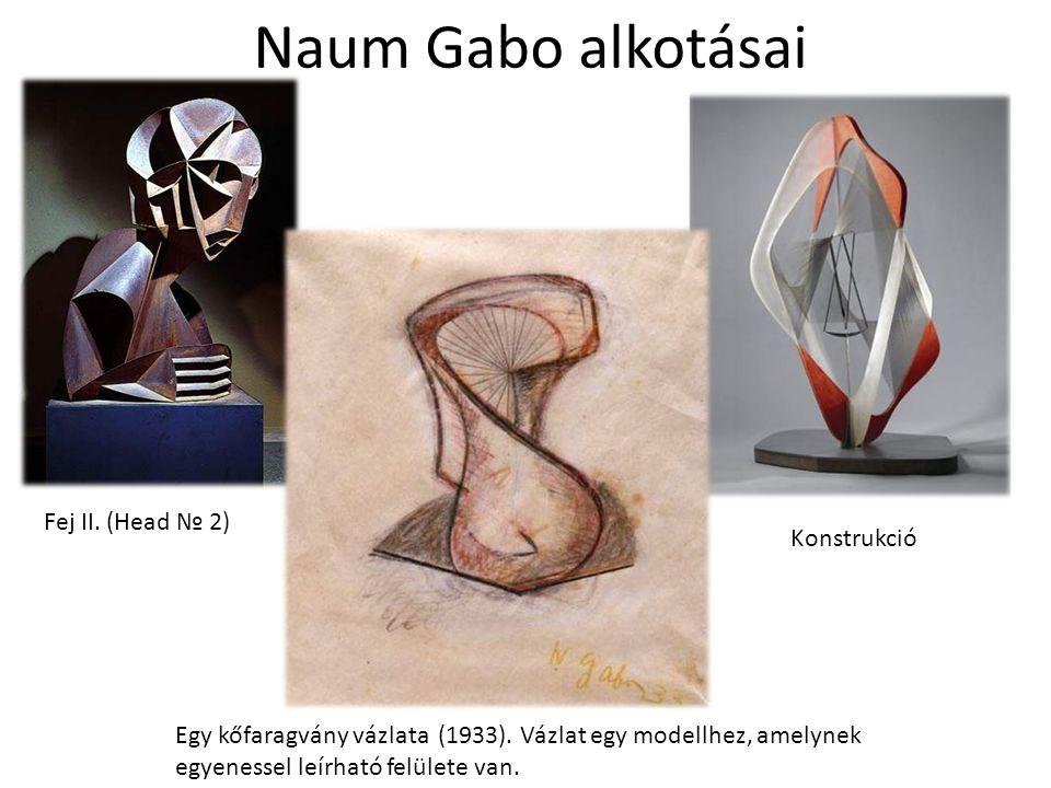 Naum Gabo alkotásai Fej II. (Head № 2) Konstrukció