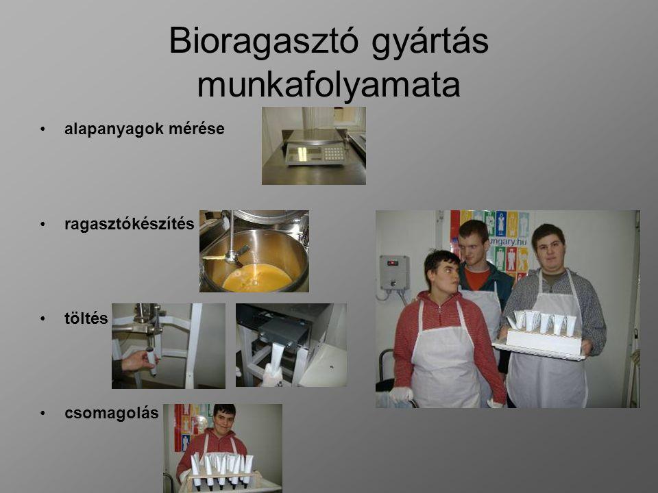 Bioragasztó gyártás munkafolyamata