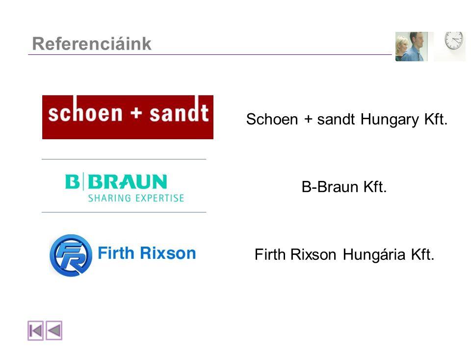 Referenciáink Schoen + sandt Hungary Kft. B-Braun Kft.