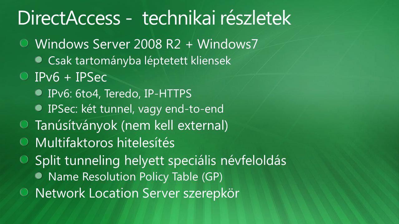 DirectAccess - technikai részletek