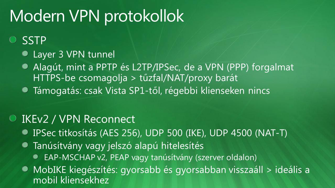 Modern VPN protokollok
