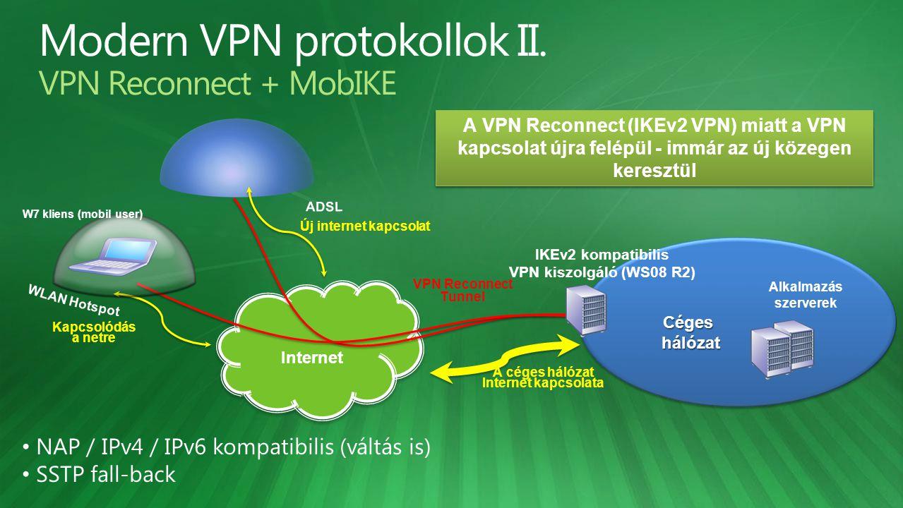 Modern VPN protokollok II. VPN Reconnect + MobIKE