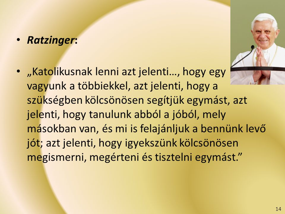 Ratzinger: