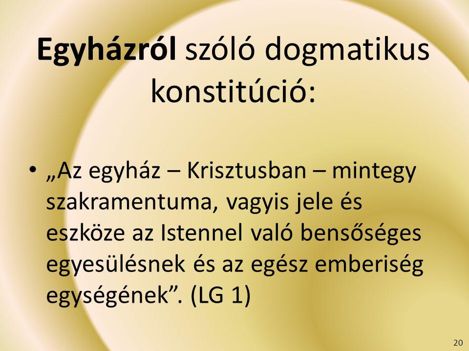 Egyházról szóló dogmatikus konstitúció: