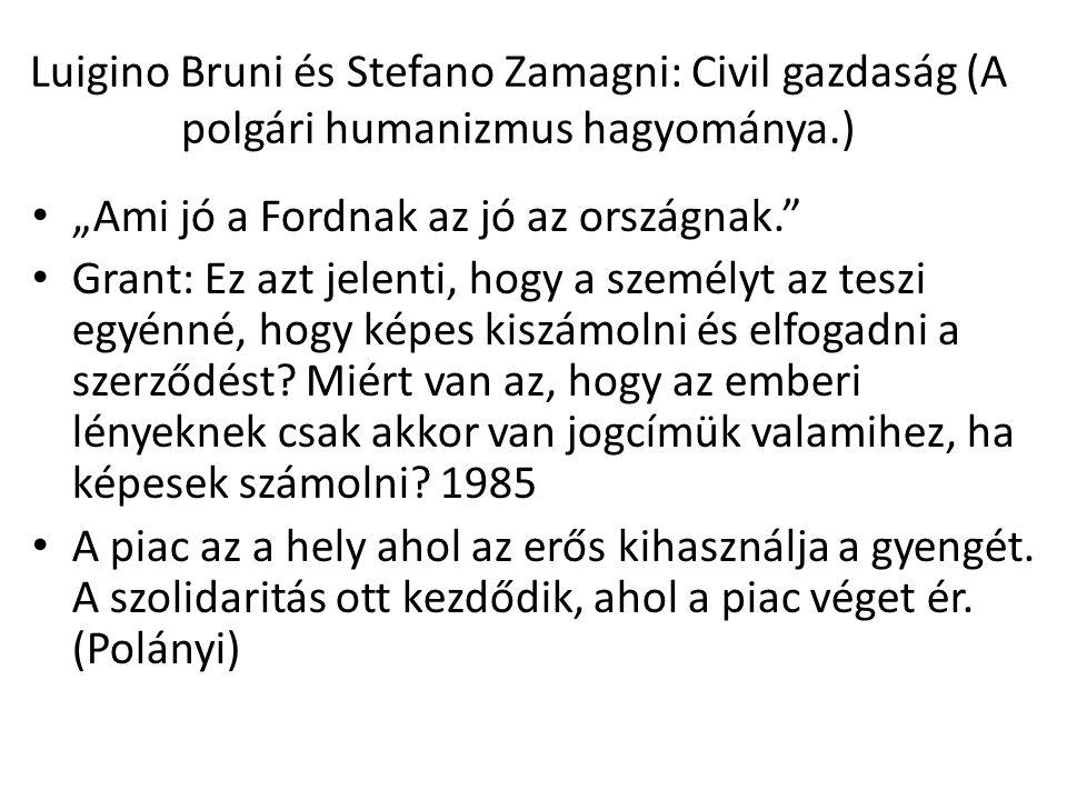 Luigino Bruni és Stefano Zamagni: Civil gazdaság (A polgári humanizmus hagyománya.)