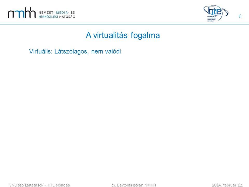 A virtualitás fogalma Virtuális: Látszólagos, nem valódi