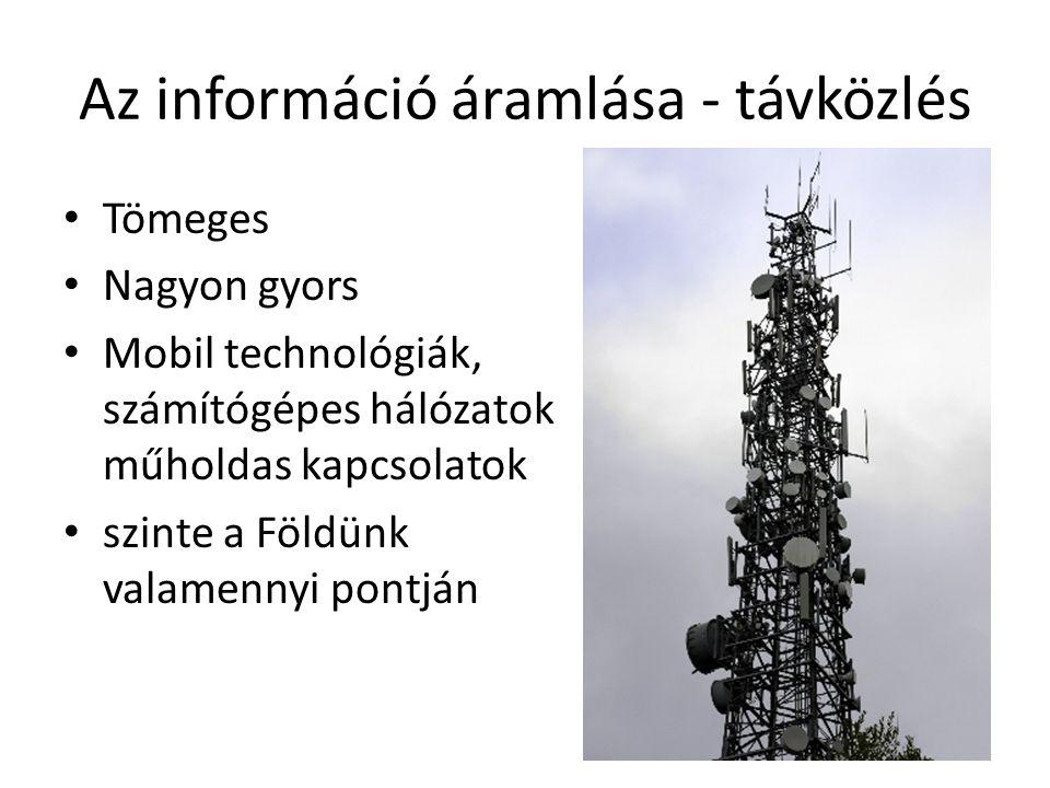 Az információ áramlása - távközlés