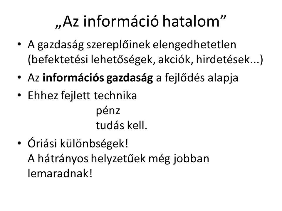 """""""Az információ hatalom"""