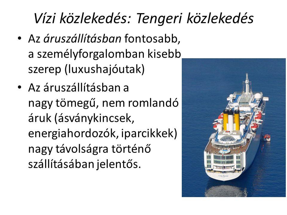 Vízi közlekedés: Tengeri közlekedés
