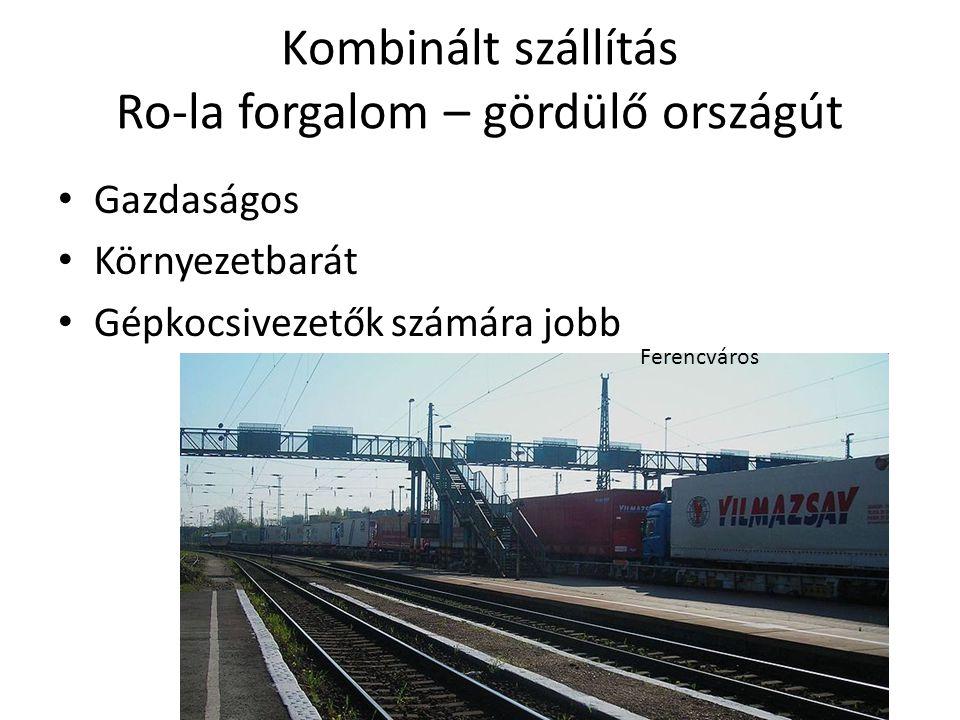 Kombinált szállítás Ro-la forgalom – gördülő országút
