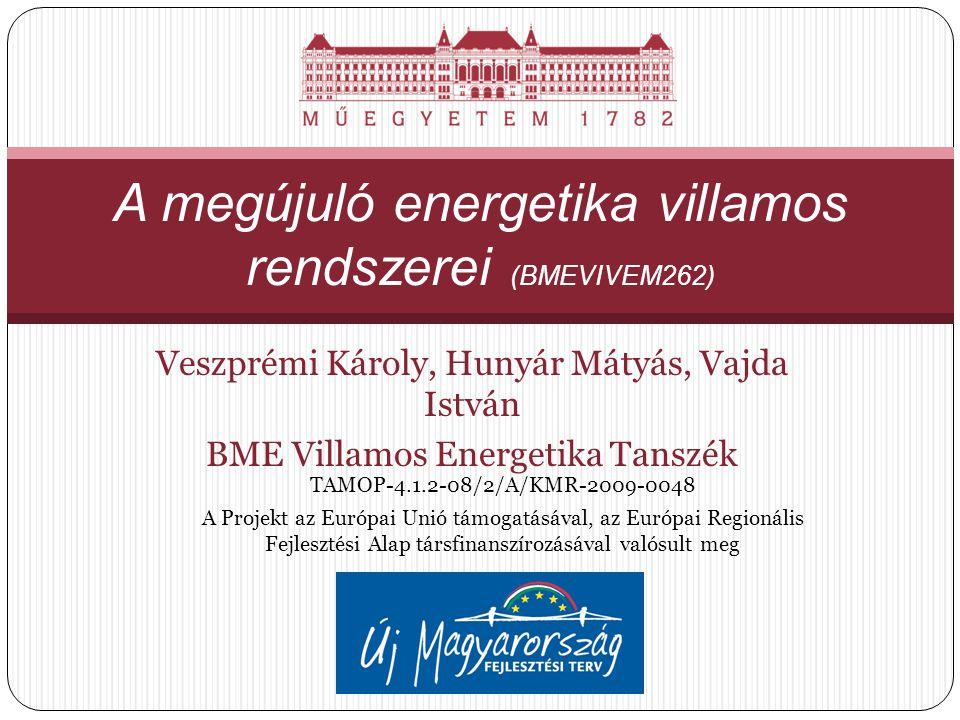 A megújuló energetika villamos rendszerei (BMEVIVEM262)