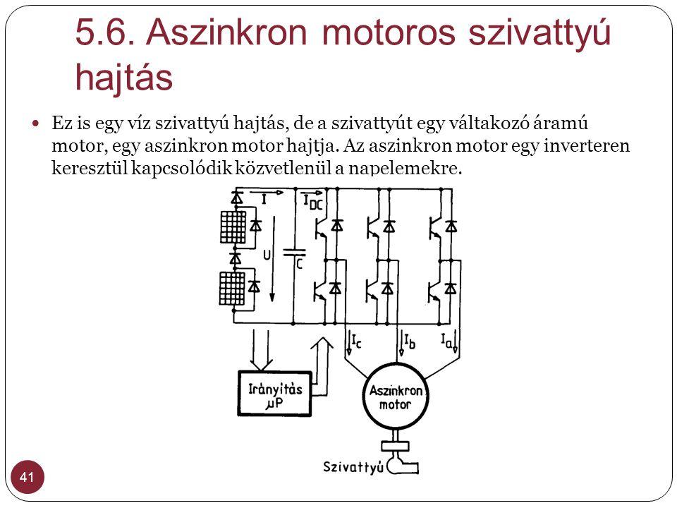 5.6. Aszinkron motoros szivattyú hajtás