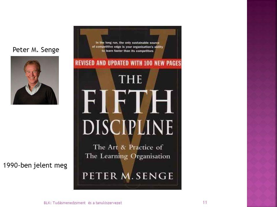Peter M. Senge 1990-ben jelent meg