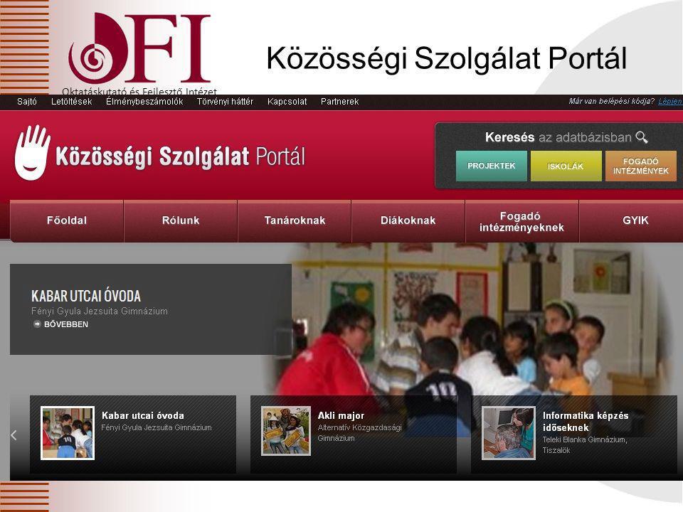 Közösségi Szolgálat Portál