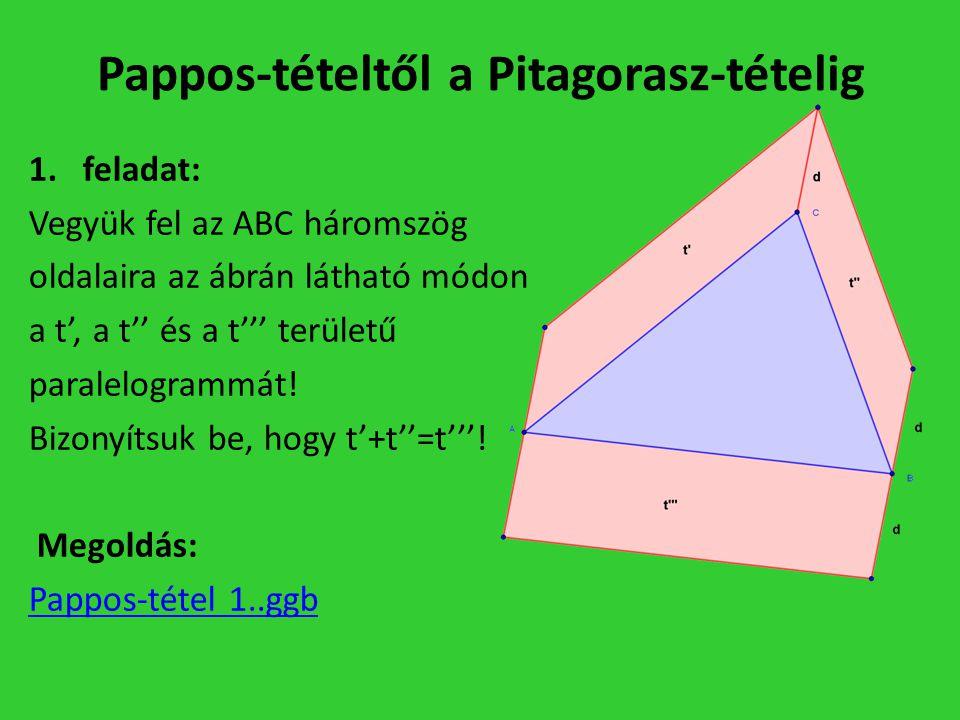 Pappos-tételtől a Pitagorasz-tételig