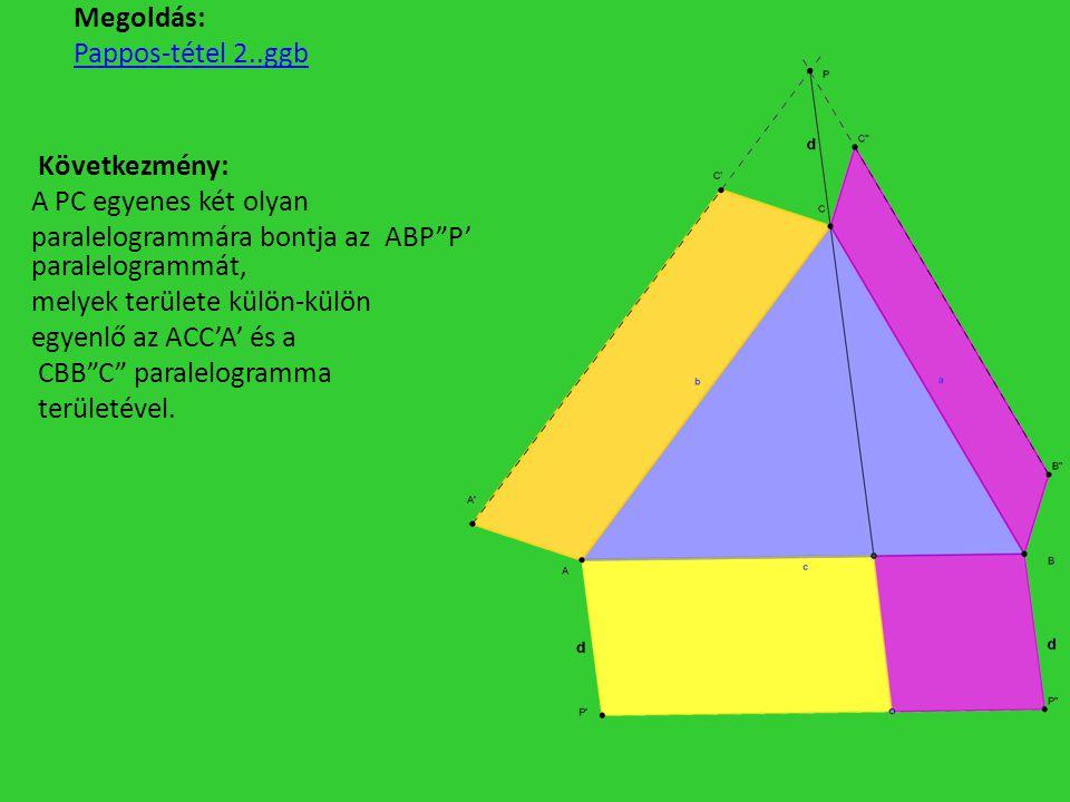 Megoldás: Pappos-tétel 2..ggb