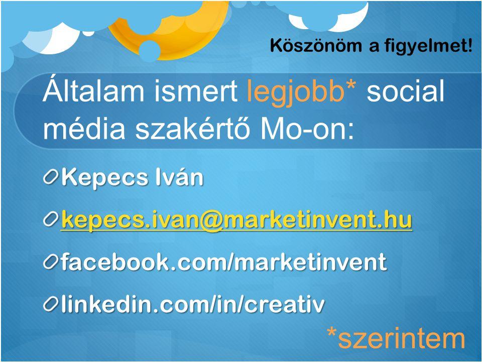 Általam ismert legjobb* social média szakértő Mo-on: