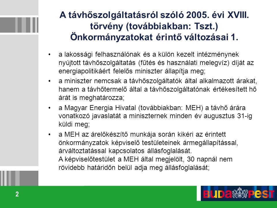 A távhőszolgáltatásról szóló 2005. évi XVIII