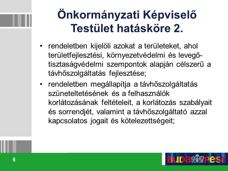 Önkormányzati Képviselő Testület hatásköre 2.