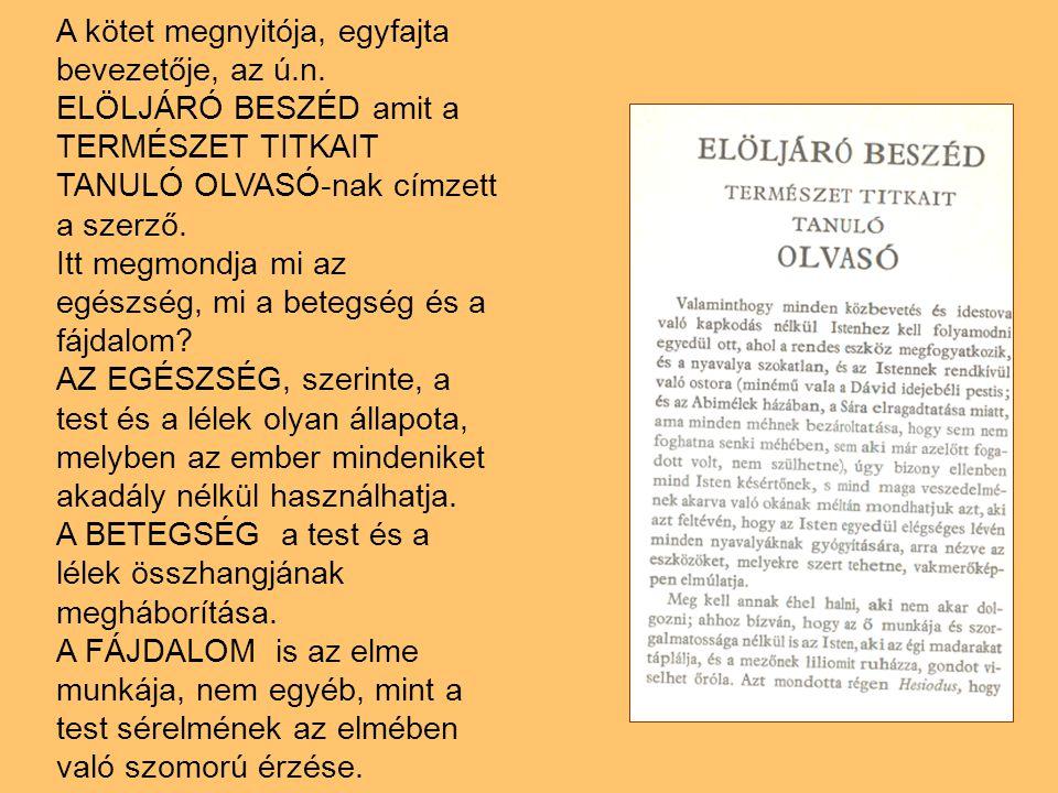A kötet megnyitója, egyfajta bevezetője, az ú. n