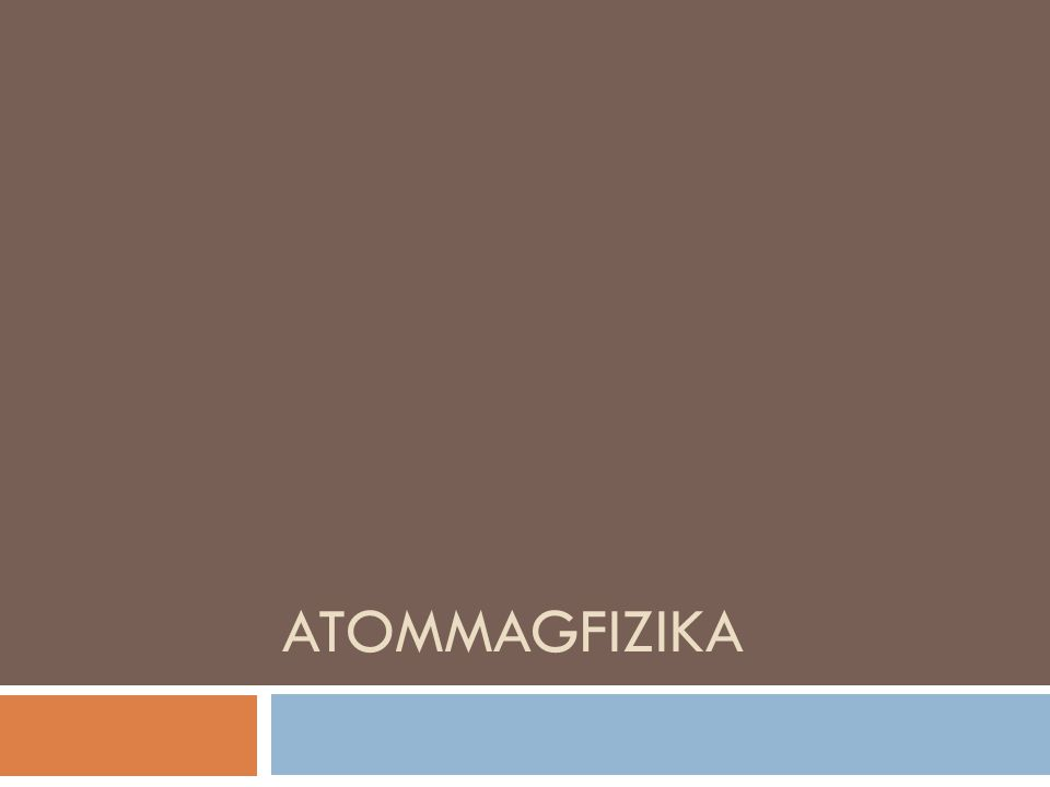 Atommagfizika