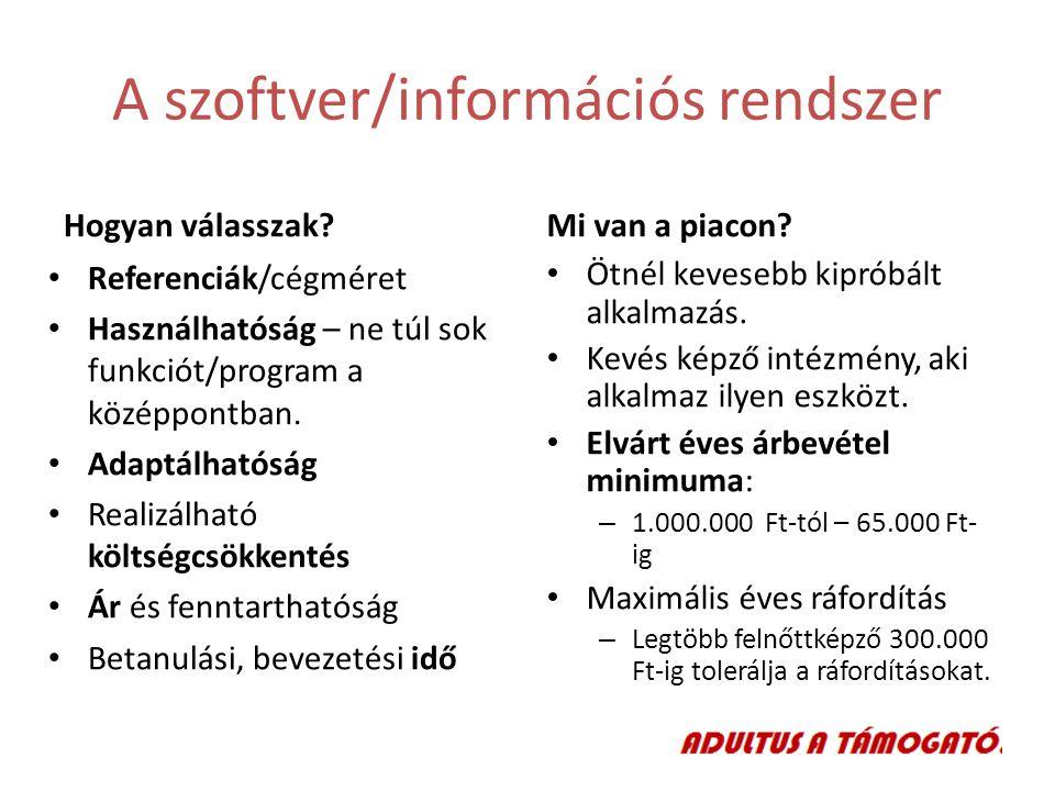 A szoftver/információs rendszer