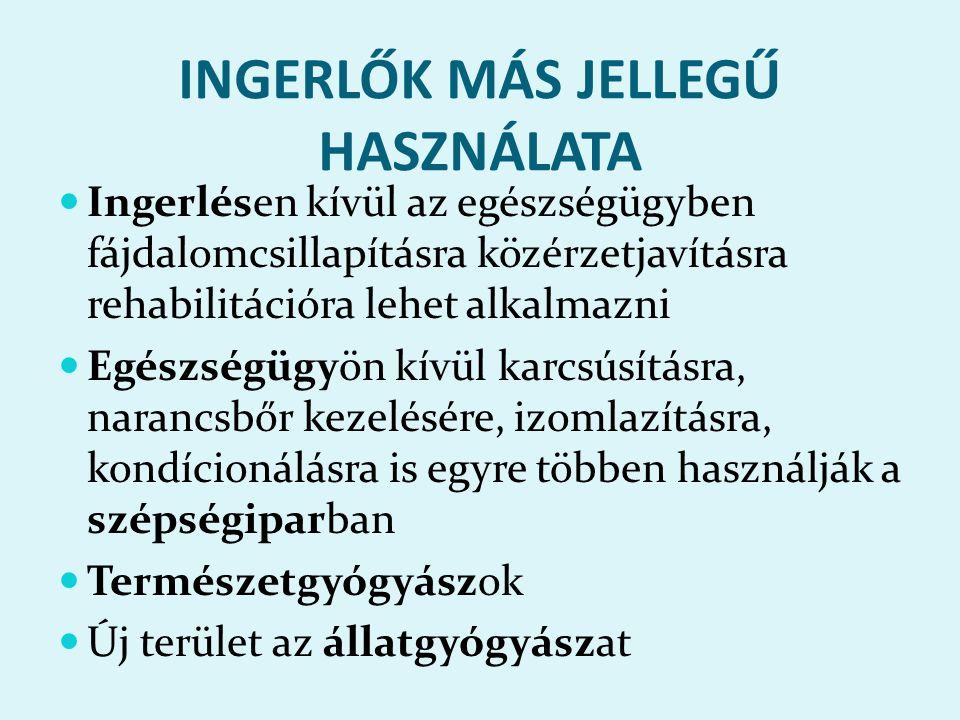 INGERLŐK MÁS JELLEGŰ HASZNÁLATA