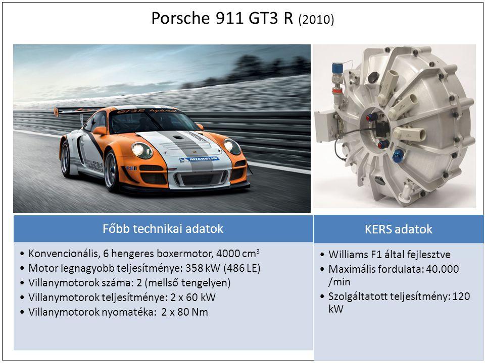 Porsche 911 GT3 R (2010) KERS adatok Főbb technikai adatok