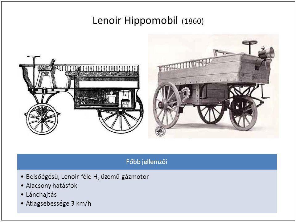 Lenoir Hippomobil (1860) Főbb jellemzői