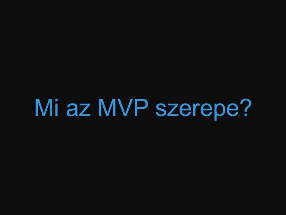 Mi az MVP szerepe