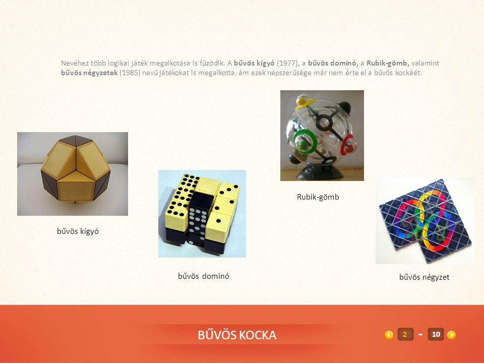 - BŰVÖS KOCKA Rubik-gömb bűvös kígyó bűvös dominó bűvös négyzet