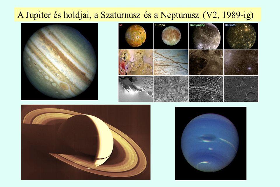 A Jupiter és holdjai, a Szaturnusz és a Neptunusz (V2, 1989-ig)