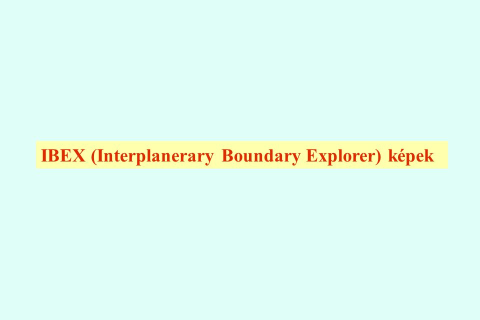 IBEX (Interplanerary Boundary Explorer) képek